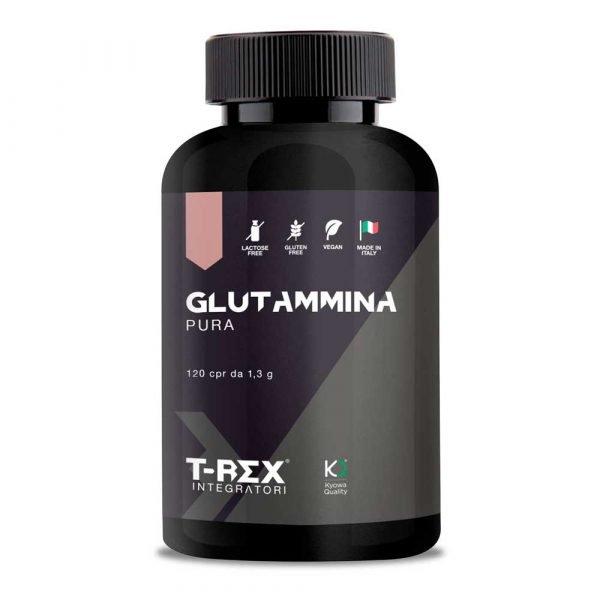T-Rex Integratori, Glutammina Pura a base di L-Glutammina Kyowa Quality®. Ideale per sportivi che svolgono attività intensa.