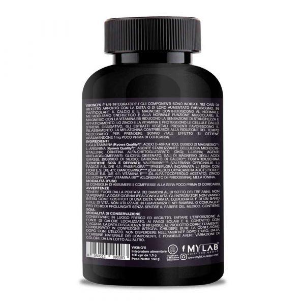 T-Rex Integratori, Viking's Recovery Night a base di Glutammina Kyowa Quality®, Arginina, Acido Aspartico,OKG e Fosfatidilserina. Ideato per favorire il recupero muscolare notturno