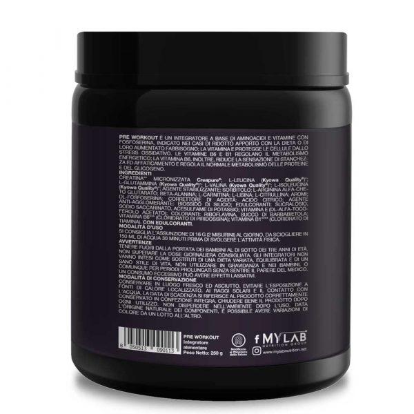 T-Rex Integratori, Pre Workout Energy Explosion a base di aminoacidi Kyowa Quality®, creatina Creapure® e fosfoserina. Per affrontare al meglio sessioni di allenamento intenso