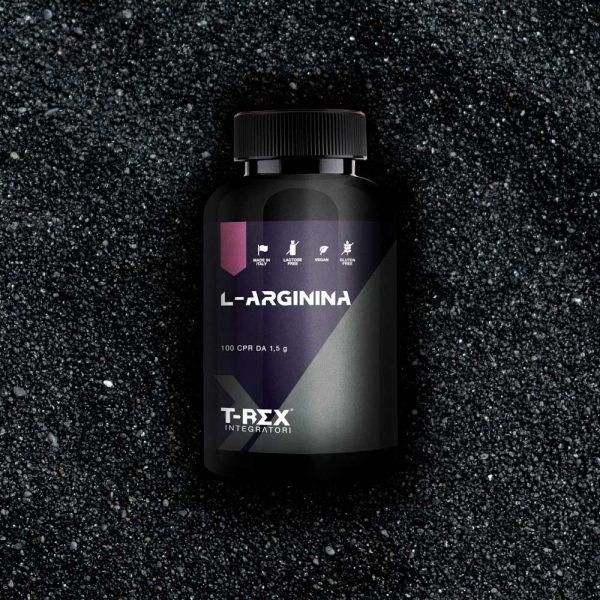 T-Rex Integratori, L-Arginina a base arginina (HCL). Ideale per chi desidera aumentare la definizione muscolare