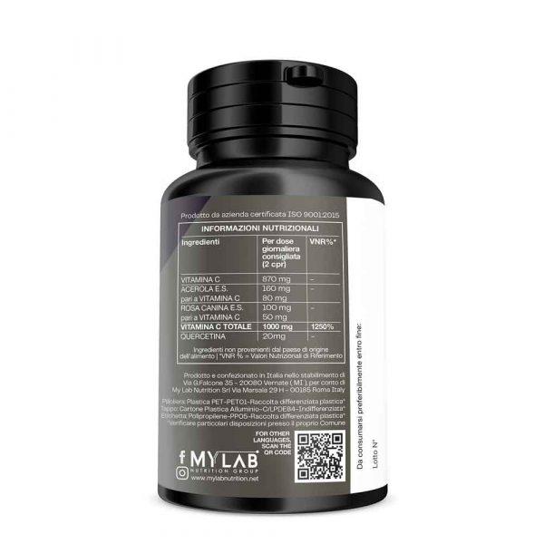T-Rex Integratori, Vitamina C pura con flavonoidi a base di Acido L-Ascorbico, Acerola, Rosa Canina e Quercetina. Il sostegno alle tue difese immunitarie