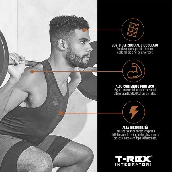T-Rex Protein Bar - Barretta Proteica 28% Cioccolato da 50g