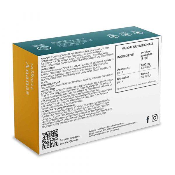 Nutracle, Ananas a base di Ananas e Bromelina, 45 compresse. Utile a contrastare gli inestetismi della cellulite e facilitare la digestione